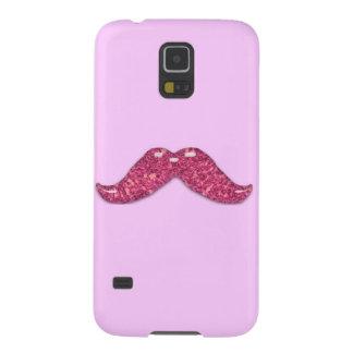 Glänzender Schnurrbart des rosa Glitters Samsung Galaxy S5 Cover