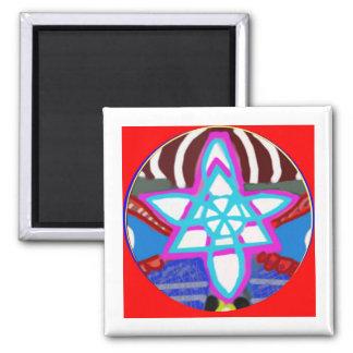 Glänzender STERN - Karuna Reiki NOSA Quadratischer Magnet