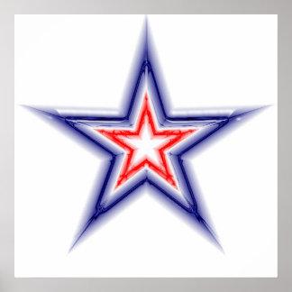 Glänzender Stern Poster