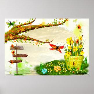 Glänzender Tageswunderliche Natur Sun Poster