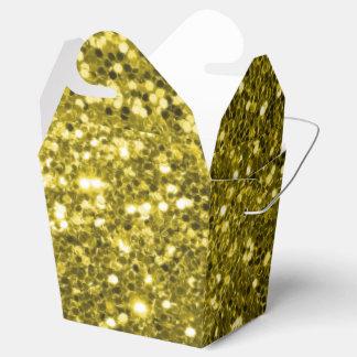 Glänzendes GoldImitat-Glitter-Schein-Muster Geschenkschachtel
