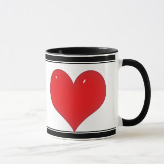 Glänzendes rotes Herz (addieren Sie Ihren Text) Tasse