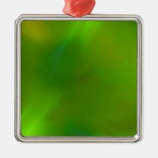 Glänzendes schimmerndes Limones Grün Silbernes Ornament