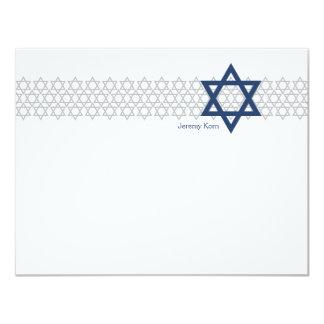 Glänzendes Stern-Bar Mitzvah Blau dankt Ihnen zu Karte