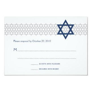 Glänzendes Stern-Bar Mitzvah blaue UAWG Karte