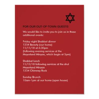 Glänzendes Stern-Bar/Schläger Mitzvah Karte
