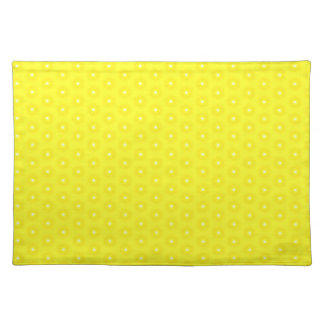 Glänzendes zitronengelbes Sunshine Stars-Muster Tischset