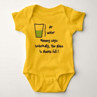Glas ist immer voll baby strampler