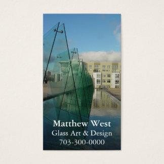 Glasarchitektur-Brunnen-Visitenkarten Visitenkarte