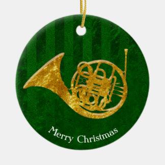 Glasblick-Goldfranzösisches Horn personifizieren Keramik Ornament