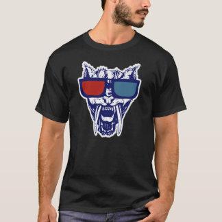 Gläser3d wilde Bobcat Gato Katzen-bemerkenswerter T-Shirt