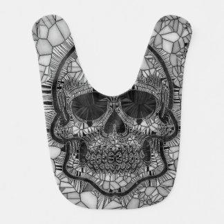 Glasmosaik-Schädel, Schwarz-weiß Lätzchen
