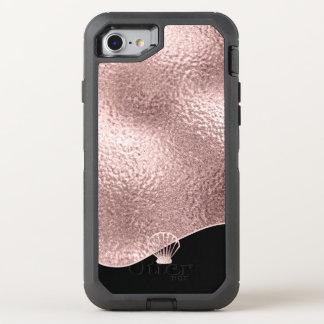 Glasseashell-Rosen-Gold ID363 OtterBox Defender iPhone 8/7 Hülle