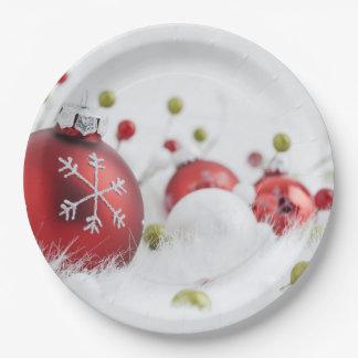"Glasweihnachtsball-PapierTeller 9"" 9 Zoll Pappteller"