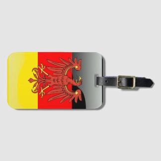 Glatte Flagge Deutschlands Kofferanhänger