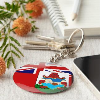 Glatte Flagge von den Bermudas Schlüsselanhänger