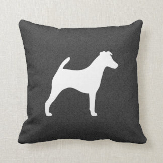 Glatte Fox-Terrier-Silhouette Zierkissen