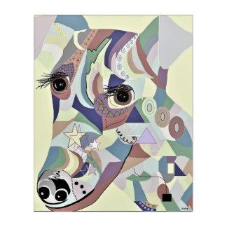 Glatte Foxterrier-Denim-Farben Acryldruck