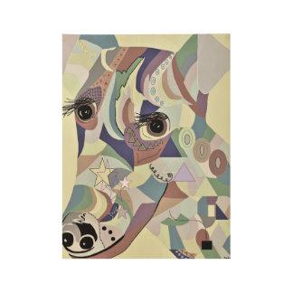 Glatte Foxterrier-Denim-Farben Holzposter