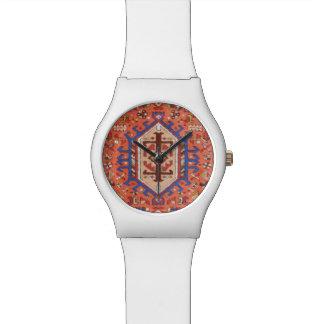 Glatte moderne weiße u. persische Entwurfs-Uhr Uhr