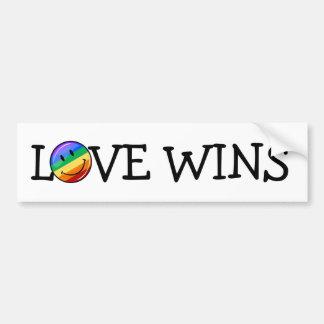 Glatte runde lächelnde Gay Pride-Flagge Autoaufkleber