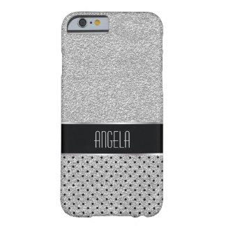 Glätten Sie Schein-Silber und Fleck-Muster Barely There iPhone 6 Hülle