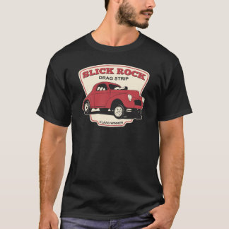 Glatter Felsen-Widerstand-Streifen T-Shirt