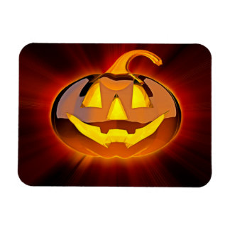 Glatter Halloween-Kürbis Flexi Magnet