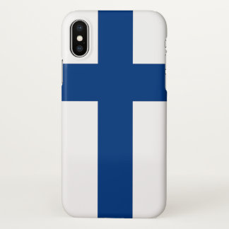 Glatter iPhone Fall mit Flagge von Finnland iPhone X Hülle