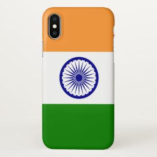 Glatter iPhone Fall mit Flagge von Indien iPhone X Hülle