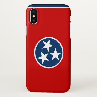 Glatter iPhone Fall mit Flagge von Tennessee iPhone X Hülle