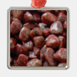 glatter roter Felsen Silbernes Ornament