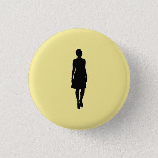 Glattes Abzeichen Dostoyevsky Wannabe-Michelle Runder Button 2,5 Cm