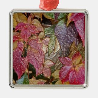 Glattes Herbst-Blätter, Wachs-Blick 001,1 Silbernes Ornament