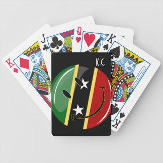Glattes rundes lächelndes St. Kitts und Bicycle Spielkarten