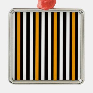 Glattes Schwarzes mit Orange Silbernes Ornament
