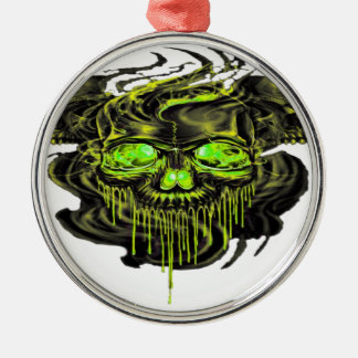 Glattes Yella Skelette png Silbernes Ornament