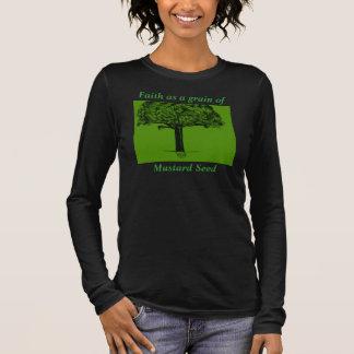 Glaube als Korn des Senfkorns Langarm T-Shirt