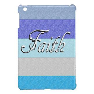 Glaube auf Blau iPad Mini Hülle