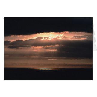 Glaube, ein Scheinwerfer-Sonnenuntergang Karte