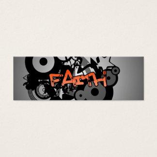 GLAUBE Graffiti-Kunst Mini Visitenkarte