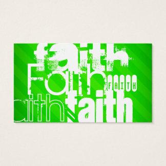 Glaube; Grüne Neonstreifen Visitenkarte
