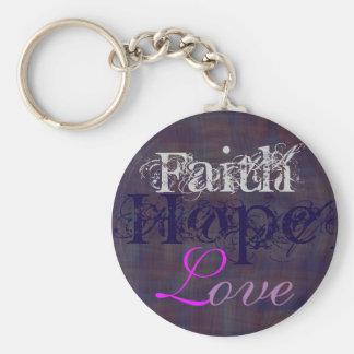 Glaube, Hoffnung, Liebe Keychain Schlüsselanhänger