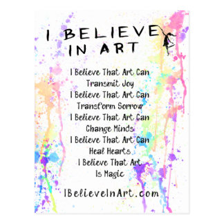 The I Believe In Art Manifesto Promotional