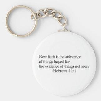 Glaube ist die Substanz der Sachen, die für Schlüsselanhänger