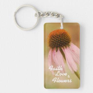 Glaube, Liebe u. Blumen Keychain Schlüsselanhänger