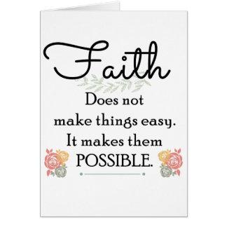 Glaube macht Sachen nicht einfache, christliche Grußkarte
