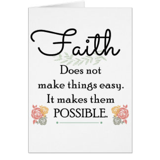 Glaube macht Sachen nicht einfache, christliche Karte