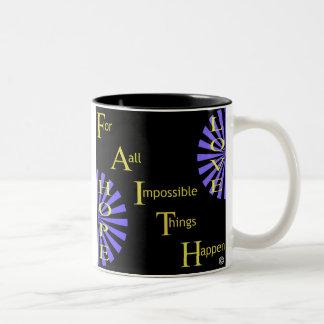 Glaube Zweifarbige Tasse