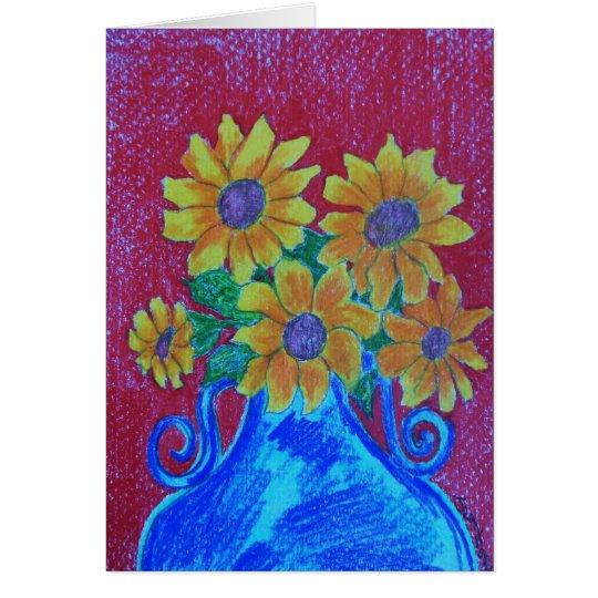 Glauben-Blumen Mitteilungskarte